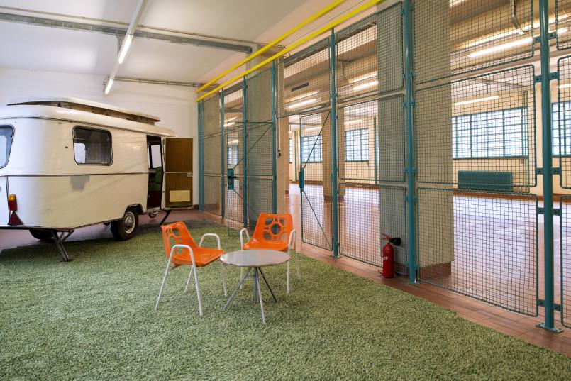 Pixel-Meeting in der Säulenhalle (Bau 1), Tabakfabrik Linz © Archipicture