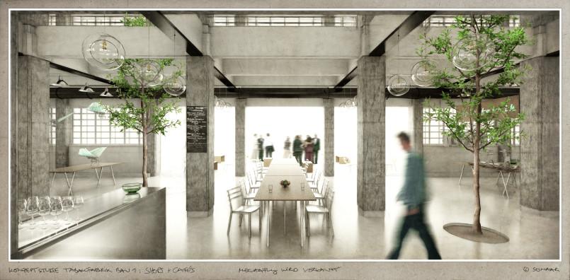 Bau 1 Revitalisierung Säulenhalle Sonaar