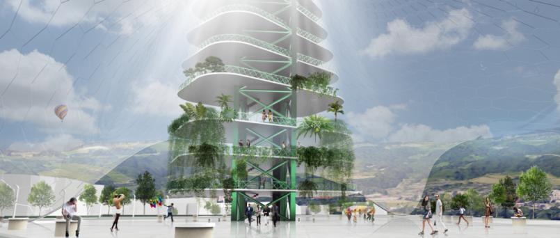 Die Hanging Gardens sollen das Hafengebiet beleben ©Friederich Atanasoaie