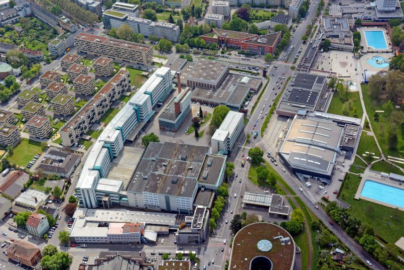 Luftaufnahme der Tabakfabrik. Foto: Stadt Linz / Pertlwieser